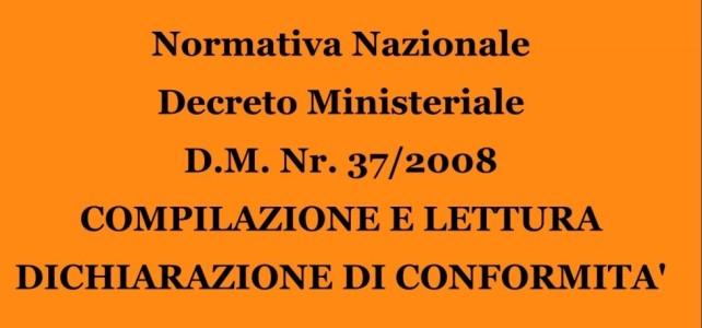 Decreto Ministeriale 37/2008
