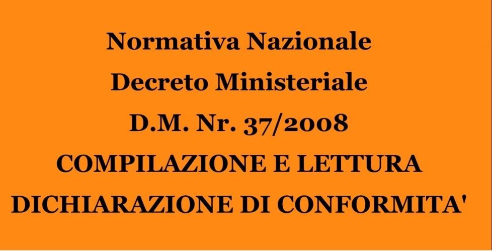 Decreto Ministeriale 37-2008